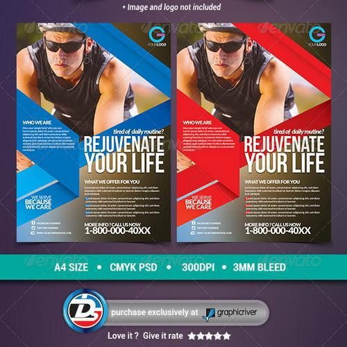 GraphicRiver Modern Sports Fitness Flyers 6949429 - All Design ...