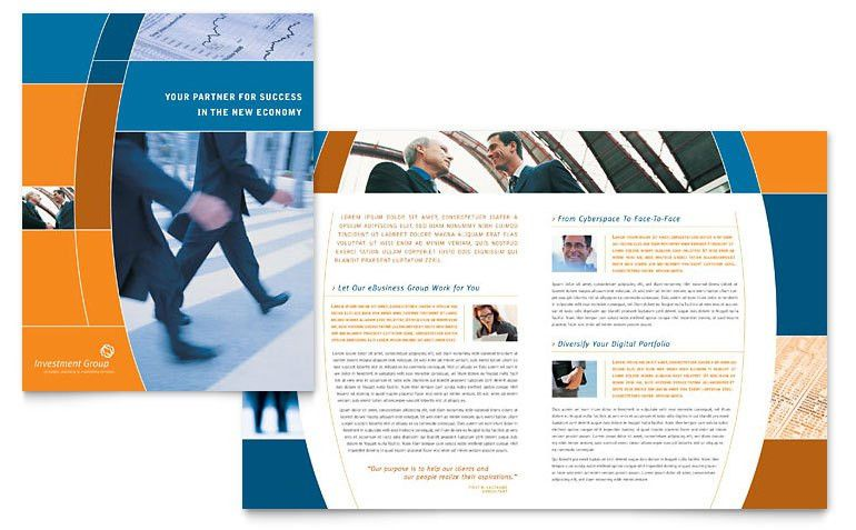 Investment Services Brochure Template - Word & Publisher