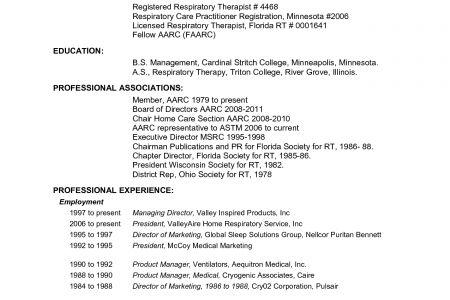 sample respiratory therapist resume respiratory therapist resume