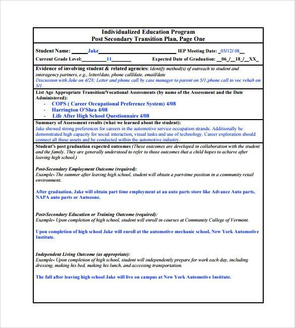 Job Transition Plan Template. transition plan template business ...