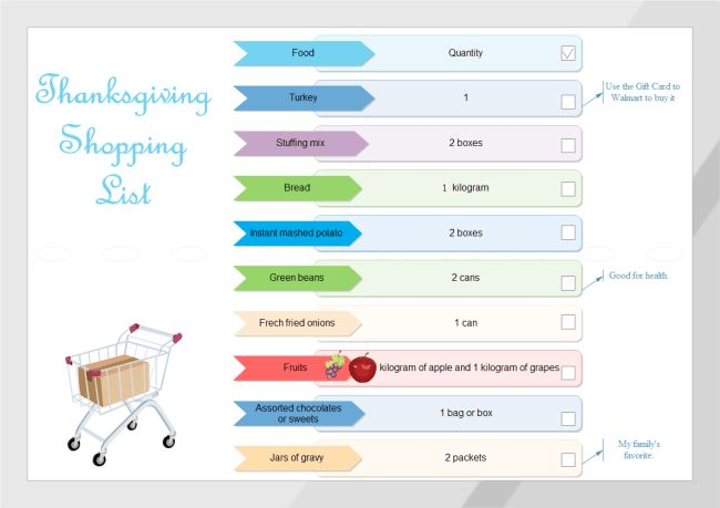 Shopping List | Free Shopping List Templates