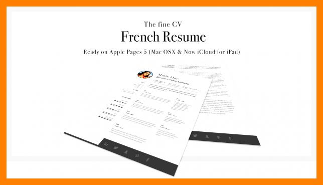 Resume Cover, The Resume Collection Template For Apple Pages Pages ...