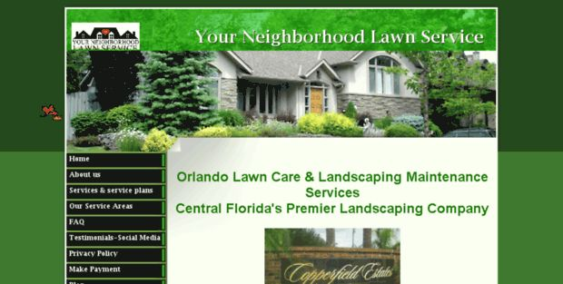 Your Neighborhood Lawn Service. Lawn Care Orlando | Lawn Service ...