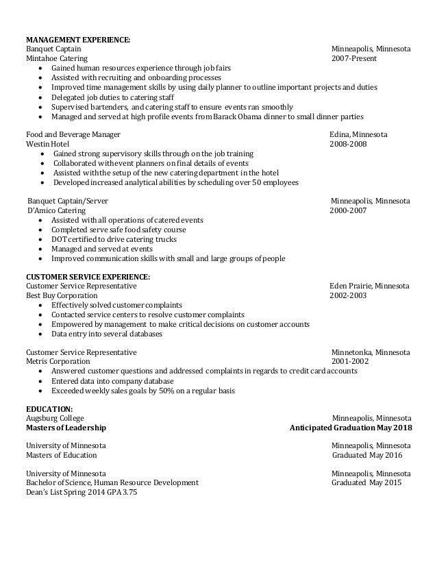 Human Resource Generalist Resume 2016