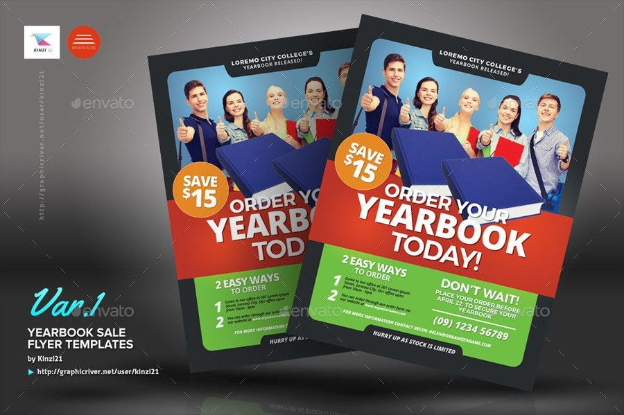 Yearbook Sale Flyer Templates by kinzi21 | GraphicRiver