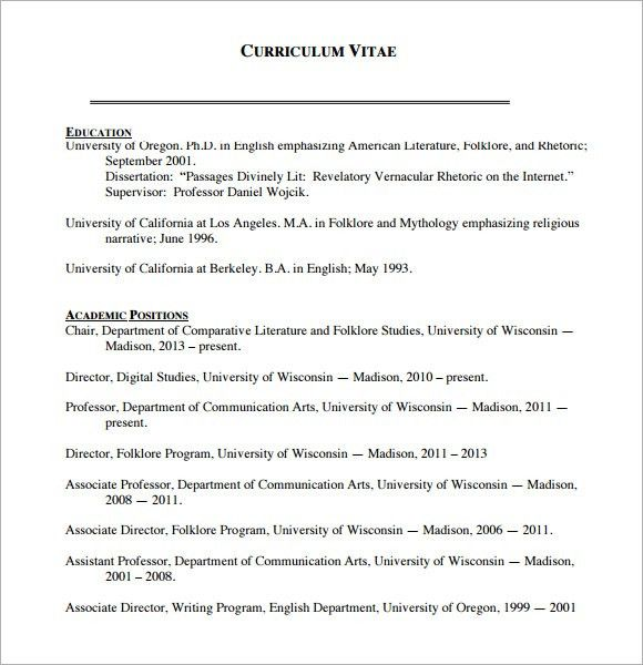 Sample Blank CV - 6+ Documents in PDF, Word