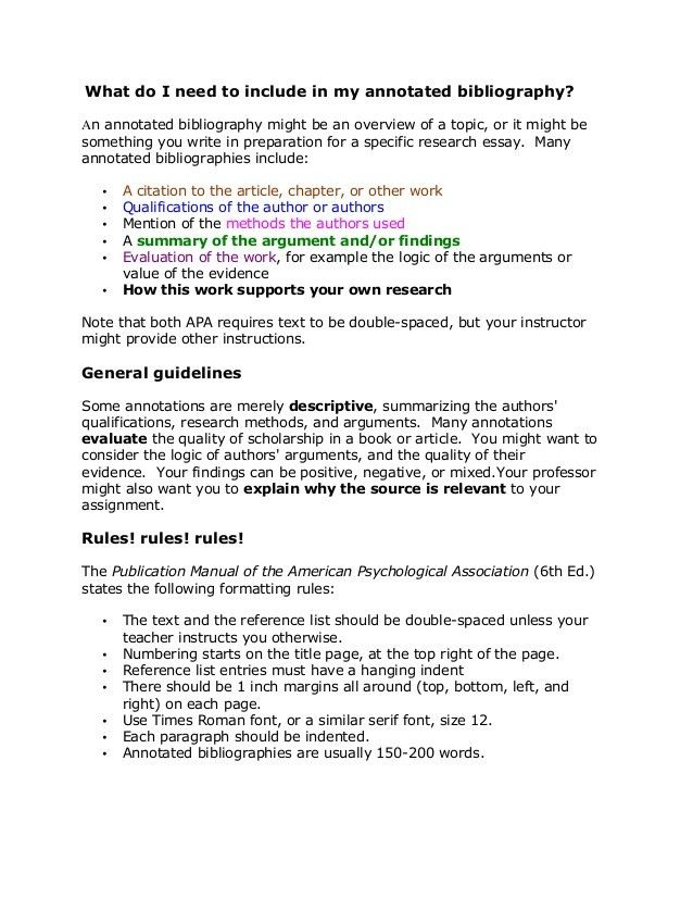 Sample APA Annotated Bibliography | University | Pinterest ...