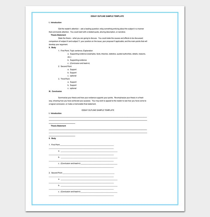 30+ Essay Outline Templates - (Free Samples, Examples and Formats)