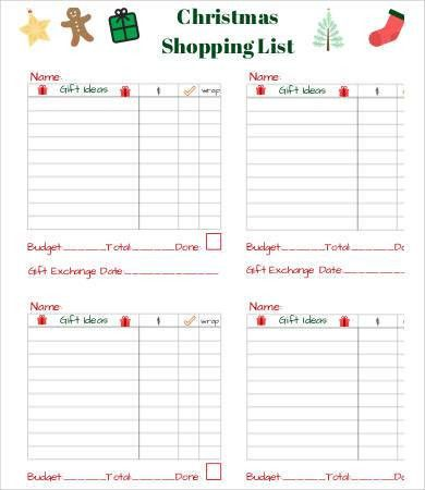 Printable Shopping List. Free Printable Shopping List Template ...