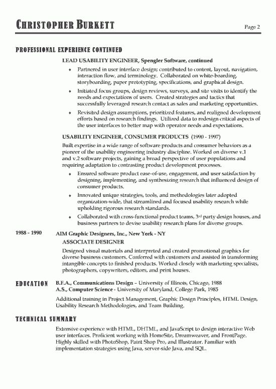 Software Developer Resume Example
