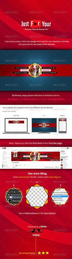 Youtube Channel Art Banners Template PSD. Download here: http ...