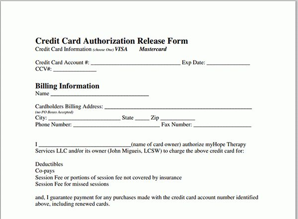 Credit Card Authorization.Credit Card Authorization Form.jpg ...