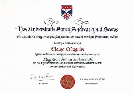 Certificates | University of St Andrews - Online payment services