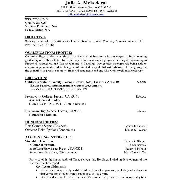 Resume With Objective - Resume CV Cover Letter