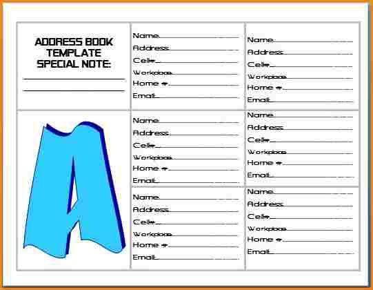 6+ address book template word | wedding spreadsheet