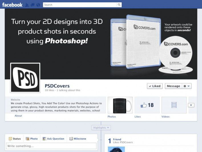 Free Facebook Timeline PSD Cover Templates for download • Market ...