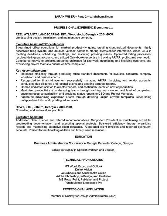 Executive Summary Resume Example. Format Of Resume Summary Example .