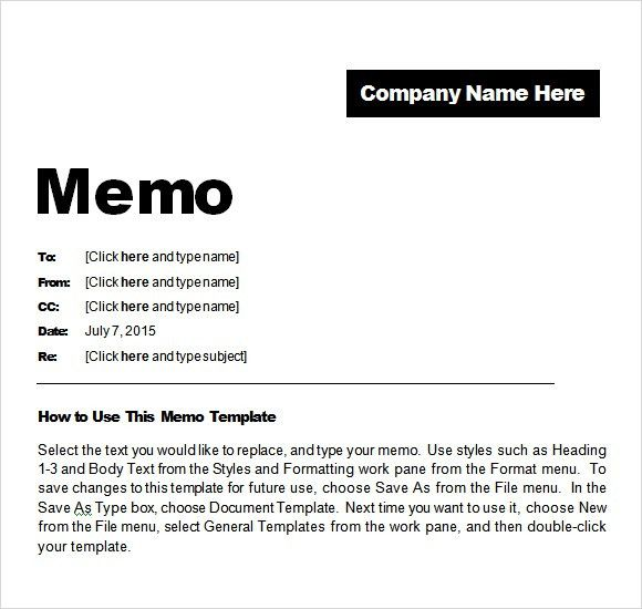 Business Memo Templates. Business Memo Template Simple Memo ...