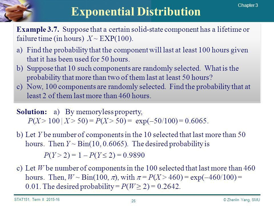 Chapter 3: Special Distributions Yang Zhenlin. - ppt download