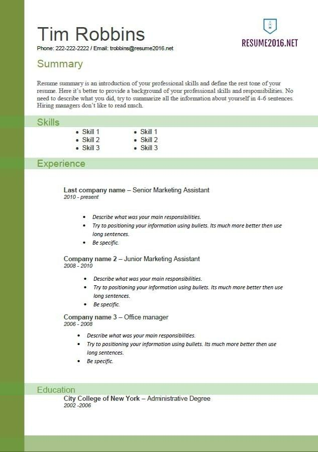 Functional Resume Formats. 40+ Blank Resume Templates – Free ...