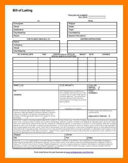 7+ bill of lading template free | teller resume