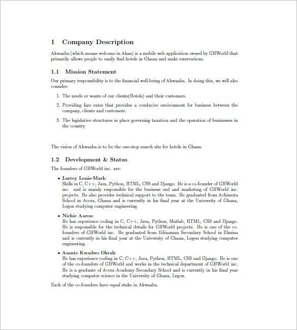 Hotel Business Plan Template – 9+ Free Word, Excel PDF Format ...