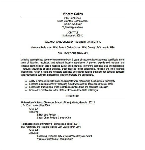 Lawyer Resume 12 Lawyer Resume Sample Format Sumptuous Design ...