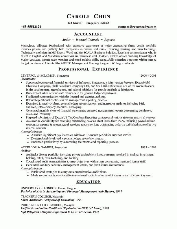 sample resume for accounting manager sample resume for an