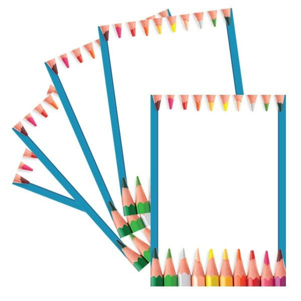 Teacher Resources | A4 Pencil Crayon Design Computer and Writing Paper