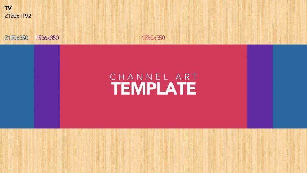 YouTube Channel Art Template | ytt