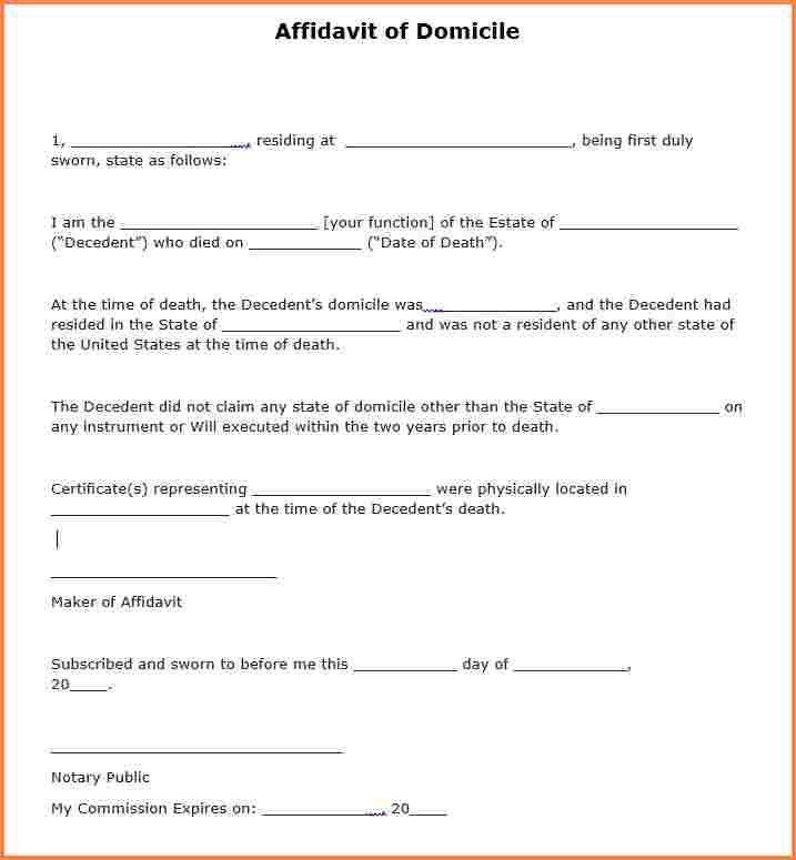 10+ free affidavit form | Registration Statement 2017