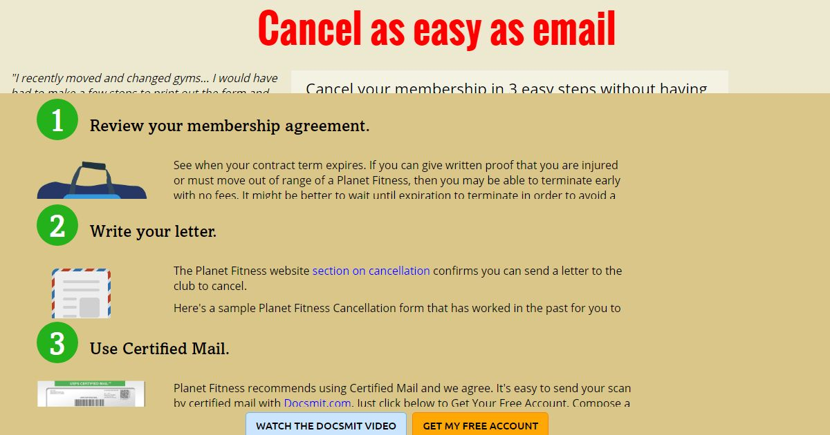 Cancel Planet Fitness Membership Online