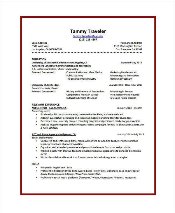 8+ Journalist Resume - Free Sample, Example Format Download   Free ...