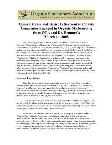 "cease and desist"" letter - Jill Stanek"
