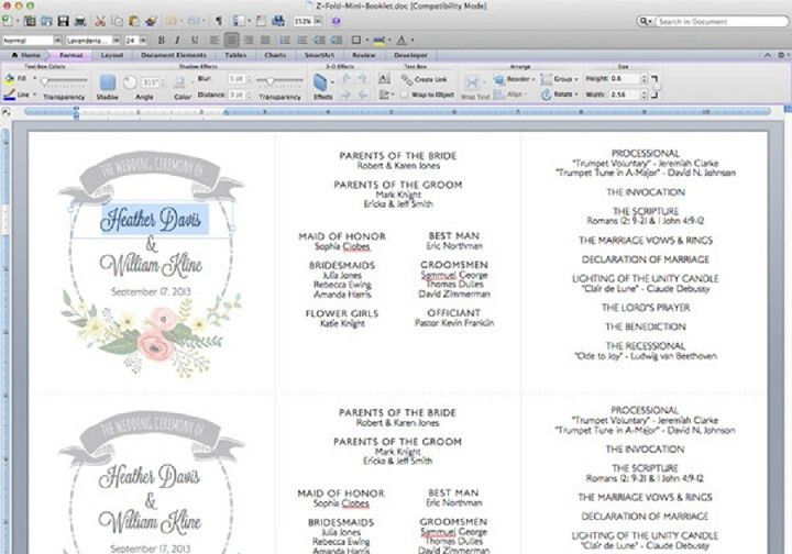 DIY Tutorial: FREE Printable Ceremony Booklet   Boho Weddings For ...