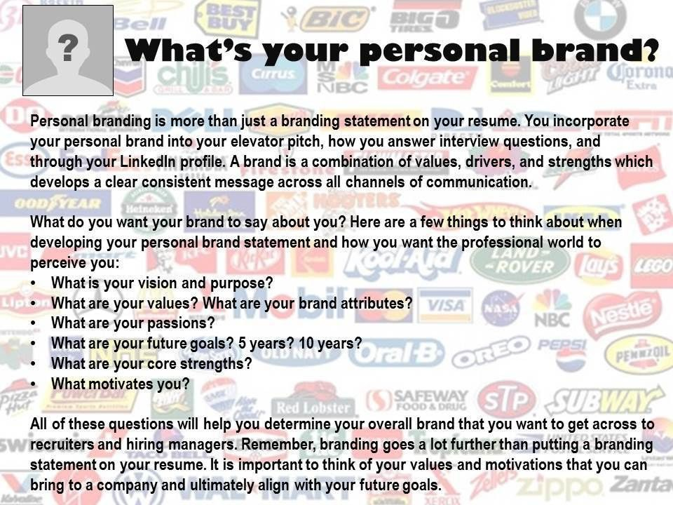 why should i brand myself | Oakland University Career Services