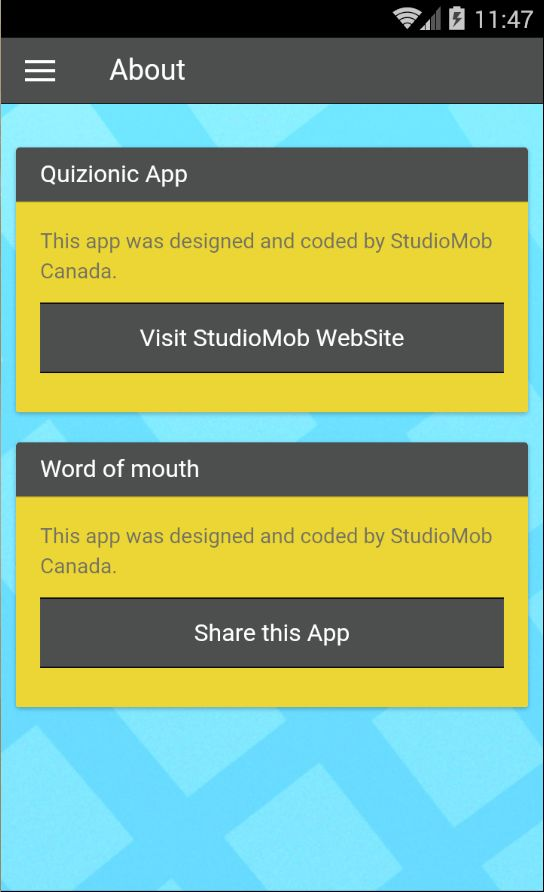 Quizionic - A Quiz App Template for Ionic Framework with SQLite ...