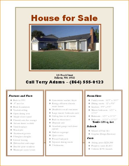 5+ home for sale flyer template | Outline Templates