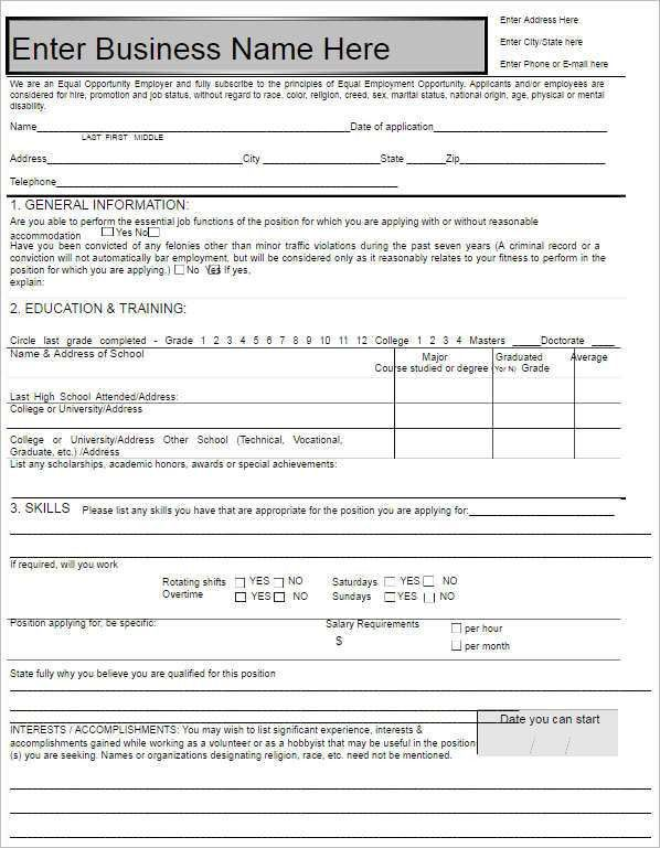 190+ Job Application Form - Sample, Example, Format Documents ...