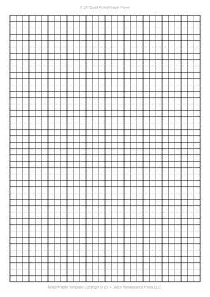 A4 Graph Paper, 0.25 inch quad ruled pdf | Templates | Pinterest ...
