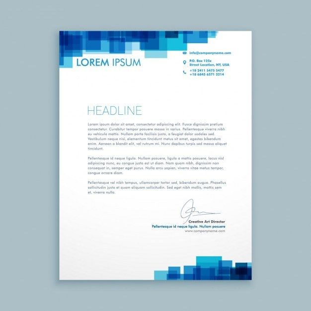 Business Letterhead. Abstract Business Letterhead Template Free ...