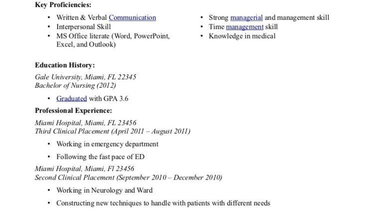 Objectives For Nursing Resume - Template Examples