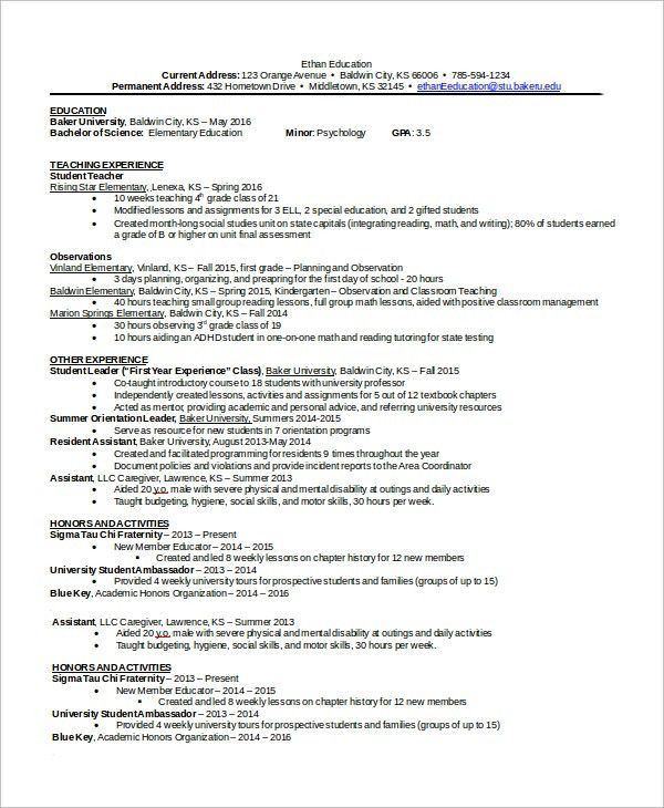 Resume Sample in Word - 8+ Examples in Word