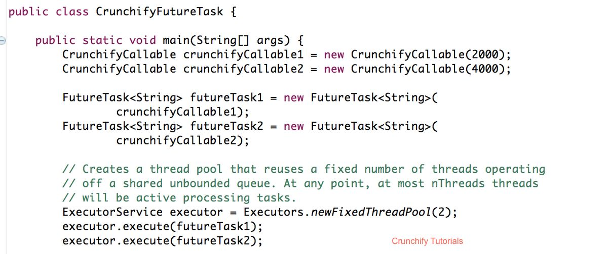 Crunchify Java FutureTask example with Callable and Runnable ...