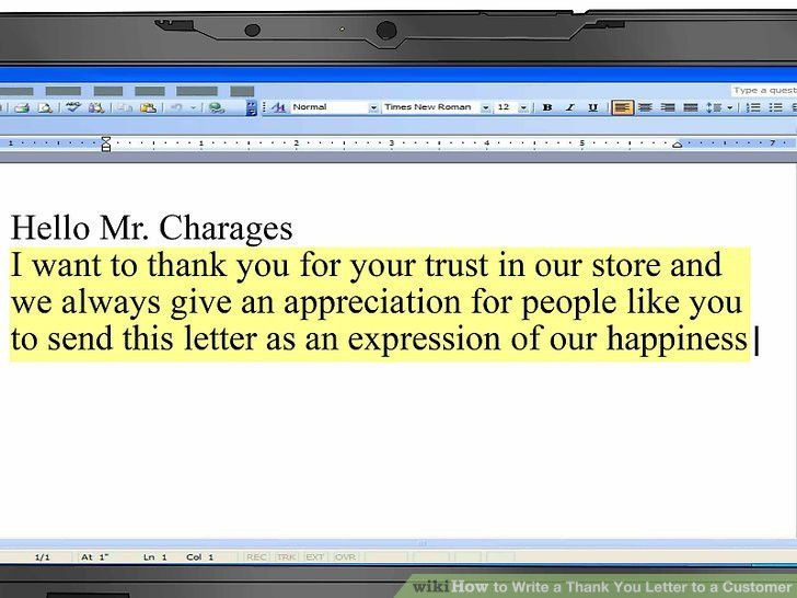 How to Write a Thank You Letter to a Customer (with Sample Thank ...