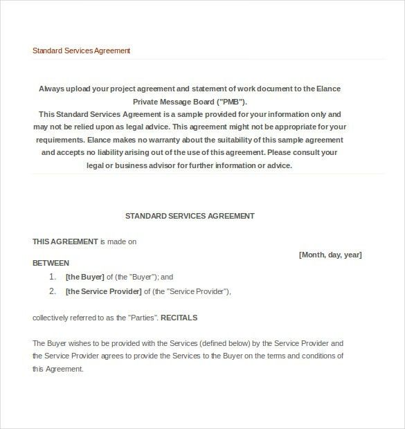 Professional Services Agreement Template. Service Agreement ...