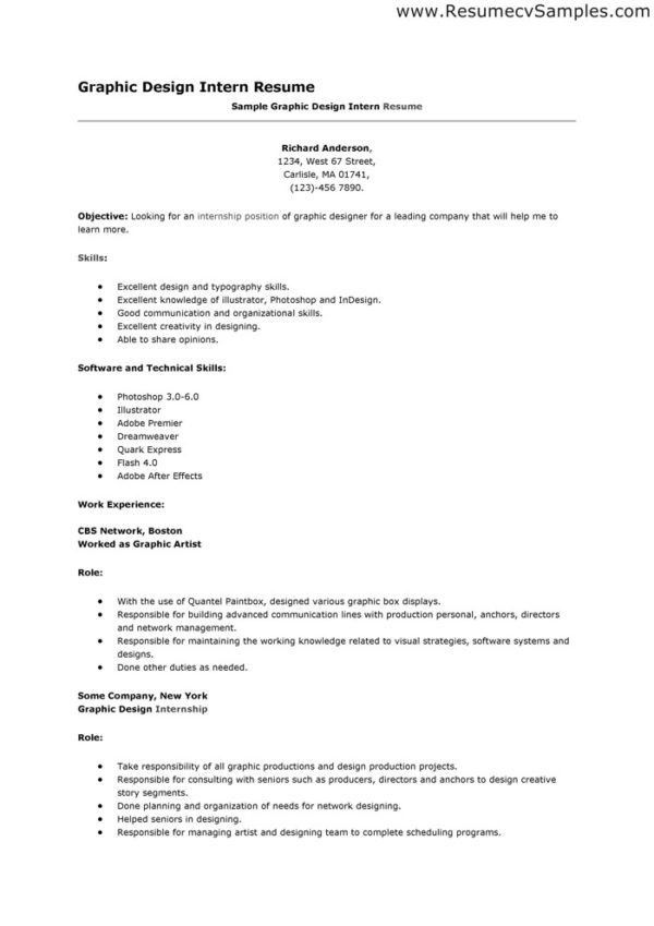 Job Winning Resume Sample for Graphic Designer or Artist Position ...
