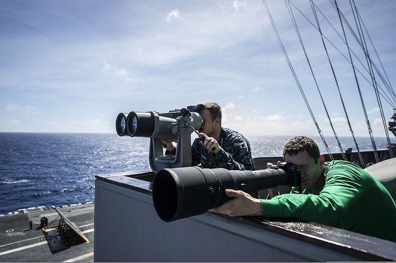 File:U.S. Navy Intelligence Specialist Seaman Lance Bouwman, left ...