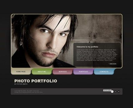 Photo Portfolio - Dynamic Photo Gallery Admin flash template ID ...