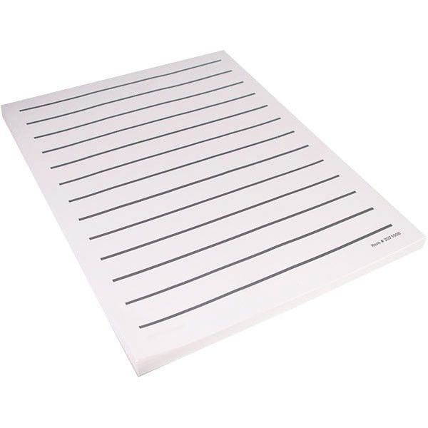 MaxiAids   Low Vision Writing Paper - Bold Line -5 pads